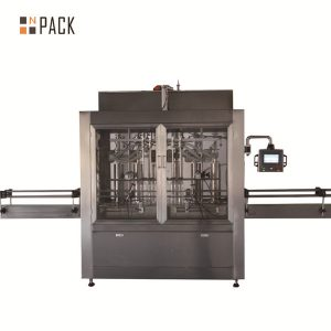 Duha ka ulo ang pneumatic volumetric piston liquid filling machine